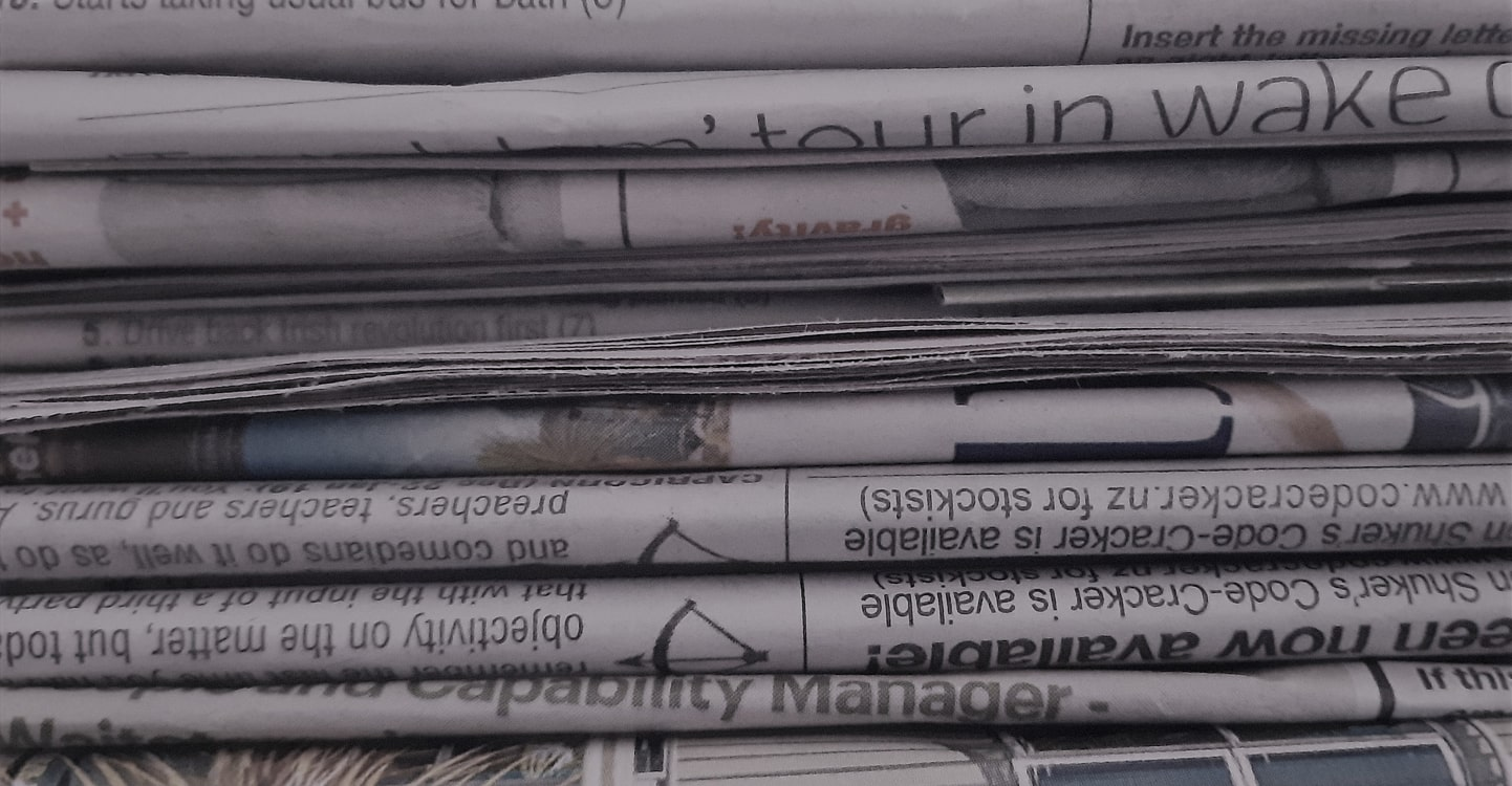 picture of a pile of old newspapers